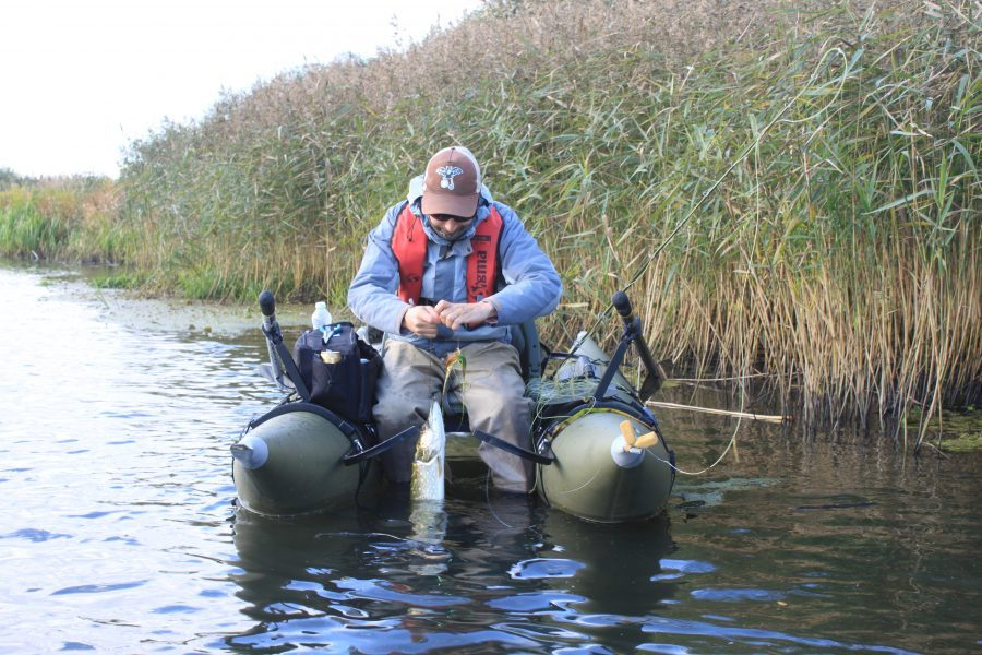 Benny offer spinfishing but even flyfishing for pike from belly boat!