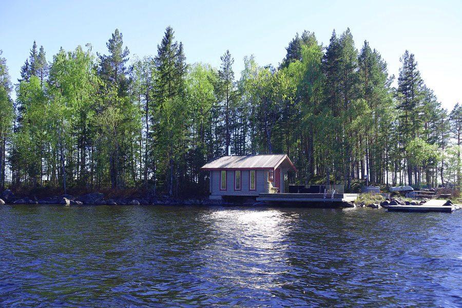 Finish sauna on the island.