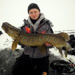 Pike cm caught on ice