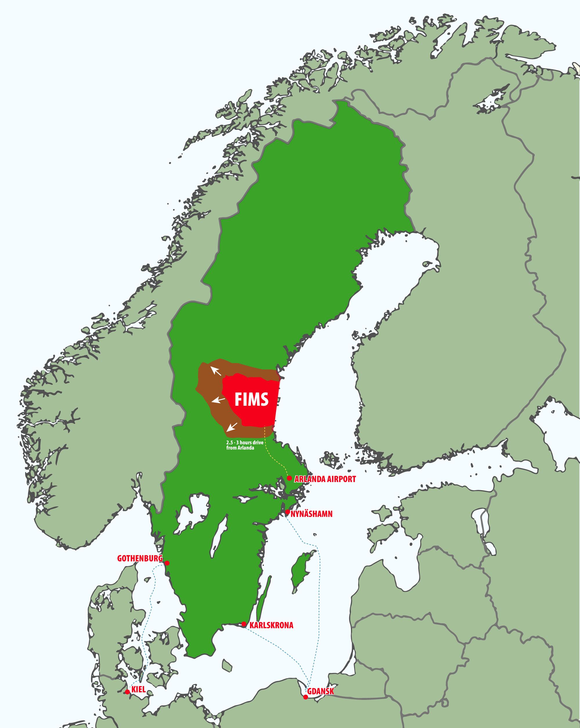 Karta-Sverige-Nordeuropa-Skandinavien-Färja